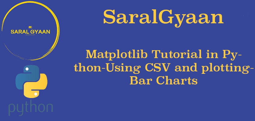 Matplotlib Tutorial in Python | Chapter 2 | Extracting Data from CSVs and plotting Bar Charts.
