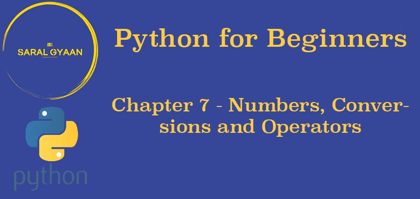 Chapter 7- Numbers, Conversions and Operators